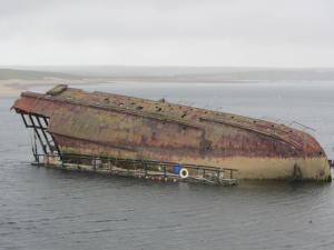 Sunken ships at Orkney