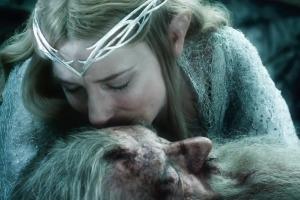 Galadriel (Cate Blanchett) and Gandalf (Ian Mckellen)