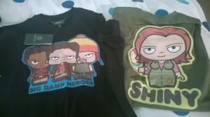 Firefly tshirts Shiny Big Damn Heroes J E Nice