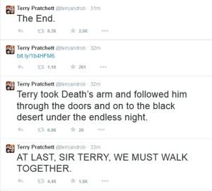 Terry Pratchett last tweets