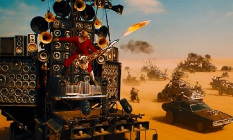 Mad Max Fury Road flaming guitar