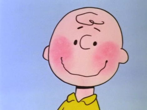 Charlie Brown blushes